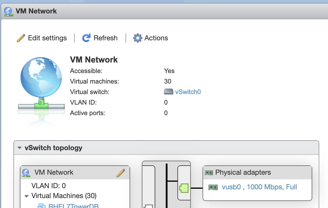 VM Network で確認